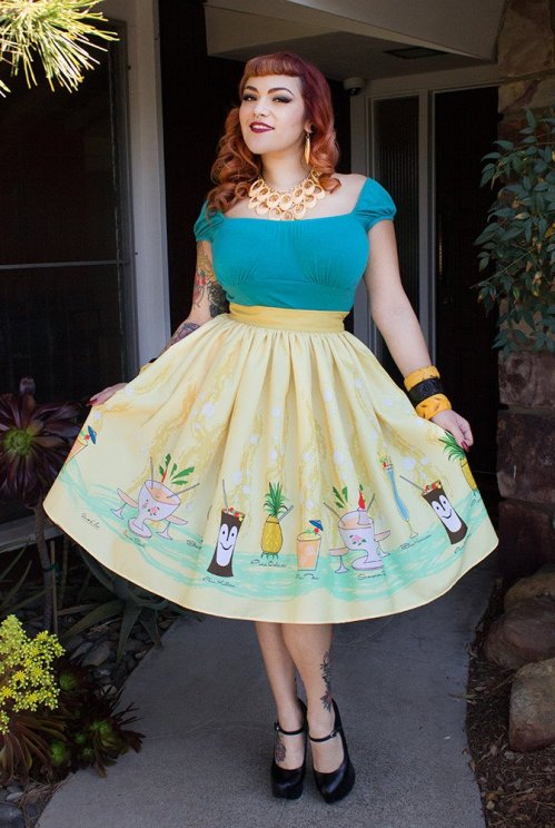 tiki menu skirt
