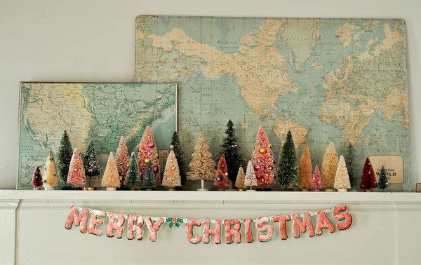 bottle-brush-tree-collection-christmas-mantle-decor